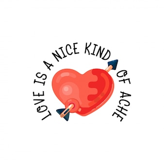 Love is a nice kind of ache.