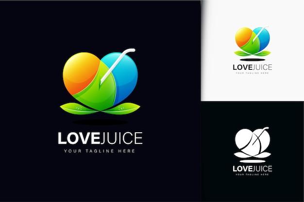 Love juice logo design with gradient