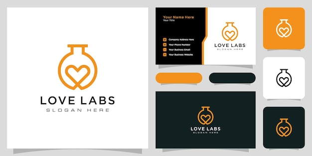 Love lab logo design with business card design