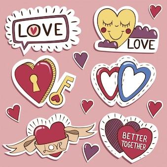Коллекция любовь этикетки
