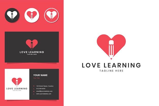 Love learning negative space logo design