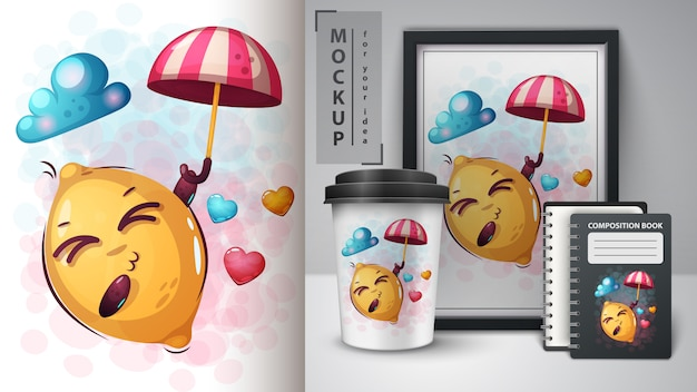 Love lemon illustration