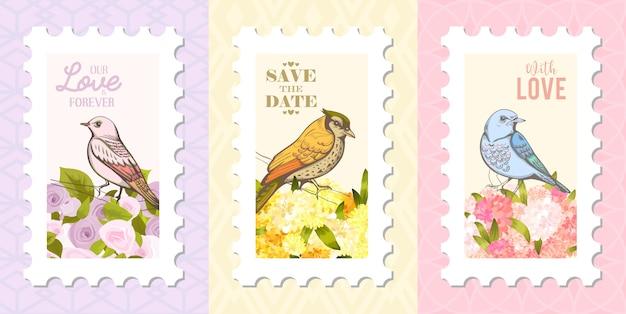 鳥に愛の手紙。