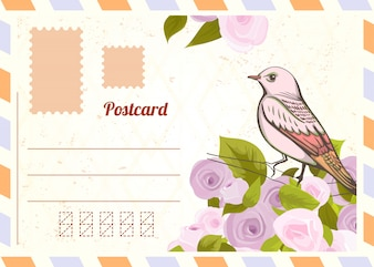 Love letter with bird.