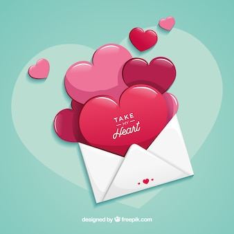 Love letter with flat design