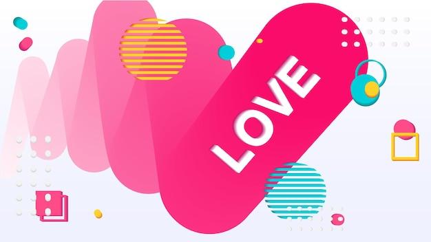 Любовные надписи абстрактный плакат баннер абстрактный фон текстура fluidposter