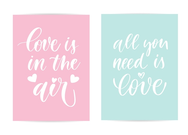 Love lettering cards