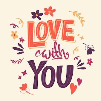Love lettering concept