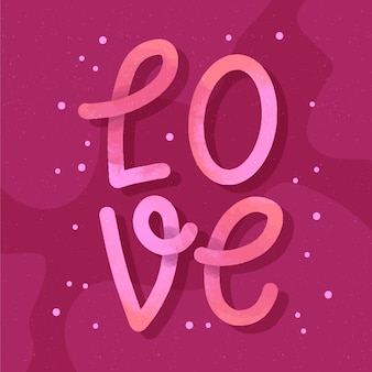 Love lettering design with gradient