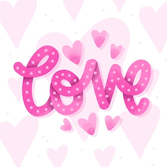 Love lettering pink style