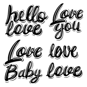 Love lettering set