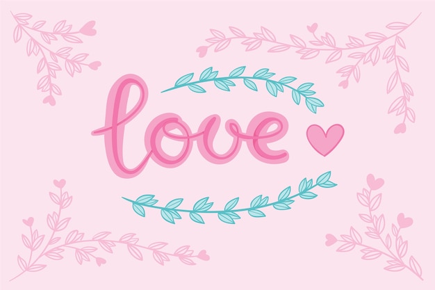 Love lettering with heart