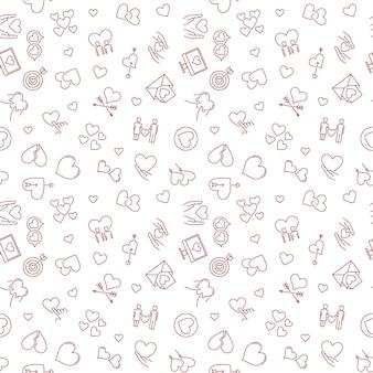 Love  linear seamless .  pattern