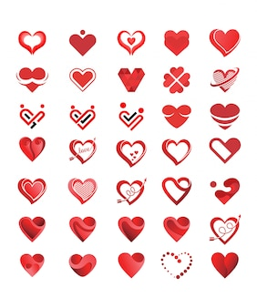 Love logo collection vector