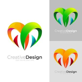 モダンなデザインテンプレート、カラフルなスタイルのロゴが大好き