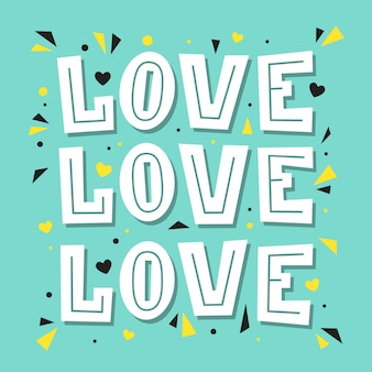Love love love. lettering illustration.