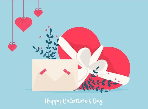 Любовная почта с валентинкой. люблю тебя конверт бумажной карты. романтический праздник день святого валентина. приглашение на подарочную карту. с днем святого валентина, шоколадные конфеты