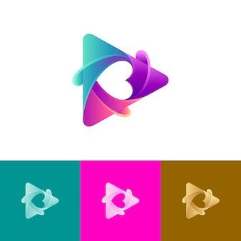 Love media play logo variation
