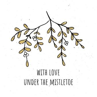 Love under mistletoe