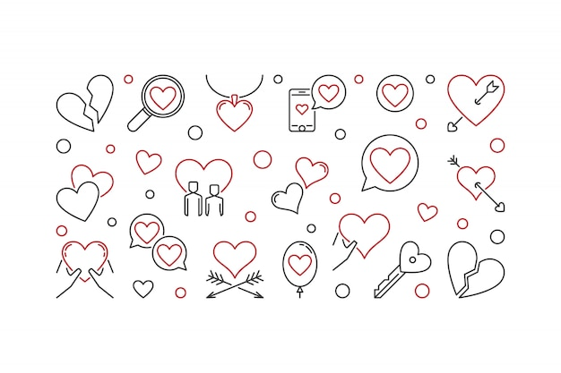 Love outline illustration