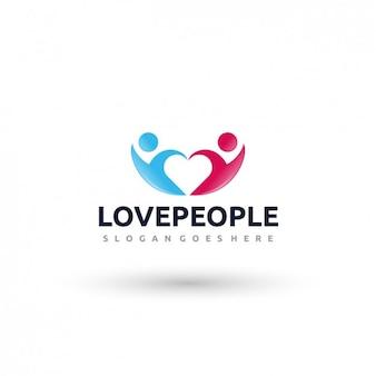 사랑 사람들 로고 템플릿