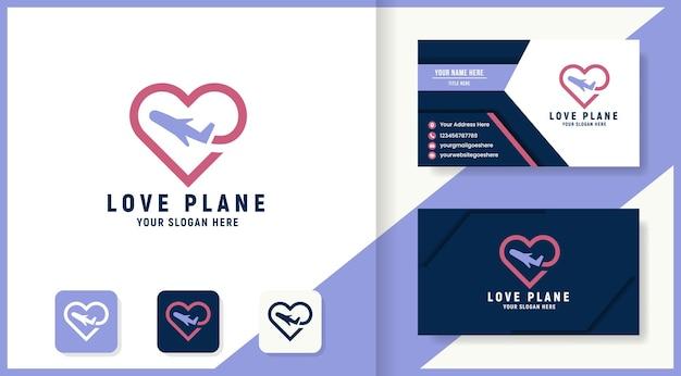 사랑 비행기 로고 디자인 및 명함
