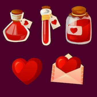 사랑의 묘약 발렌타인 아이템 세트