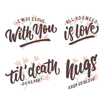 Love quotes lettering trypography poster