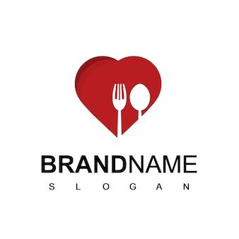 愛のレストランとカフェのロゴ