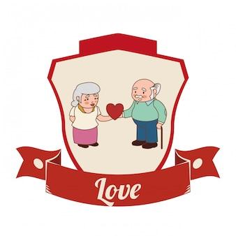Love and romantic icons design