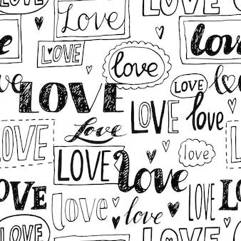 Love. romantic seamless pattern.