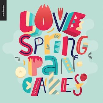 Буквенная композиция love spring pancakes