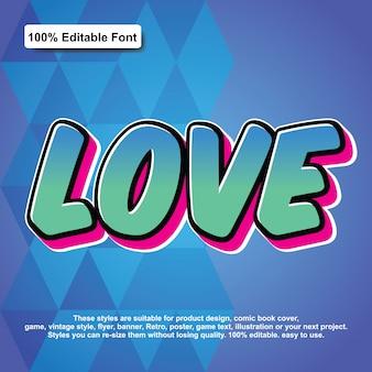 Love sticker text effect