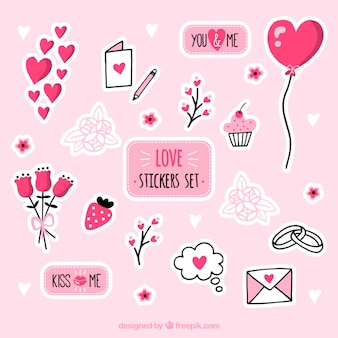 Love stickers set