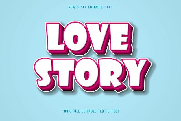 История любви редактируемый текстовый эффект градации розового стиля