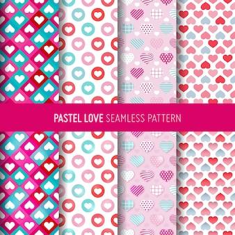 사랑 기호 완벽 한 패턴입니다. 발렌타인 데이 선물 포장지
