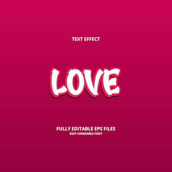Love text effect design template