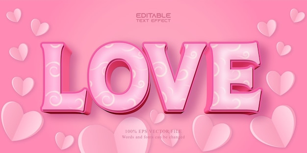 Love text effect for valentine's day