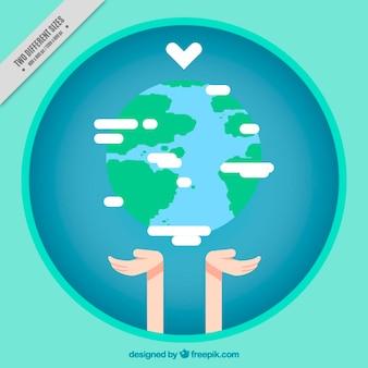 인도주의의 날, 세상을 사랑 무료 벡터