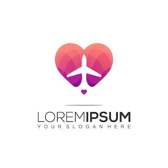Шаблон оформления логотипа путешествия любовь