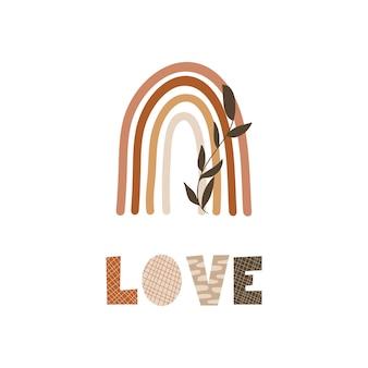 Любовь - дизайн типографии. Premium векторы