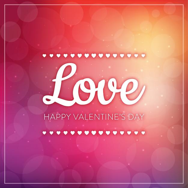 Love typography - valentine's day greeting