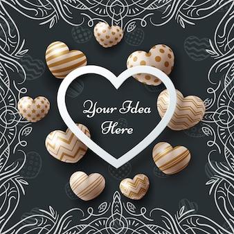 Love valentine happy birthday card