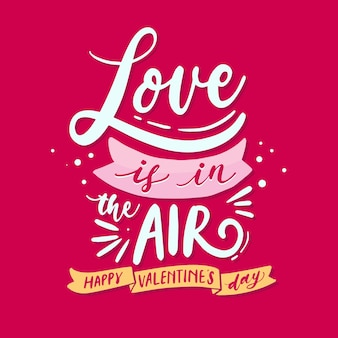 Love valentine's day lettering