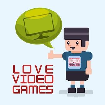 Любовь видео игры аватар пузырь речи технологии