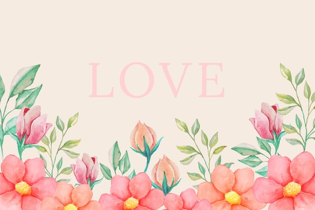 Love vintage flowers background