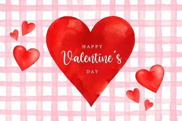 Love watercolor valentine's day