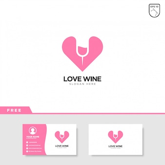 Love wine logo design