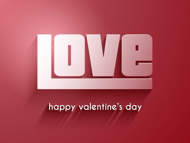 Любовь слово на красном фоне