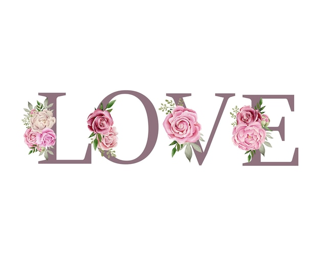 花の構成と愛の言葉